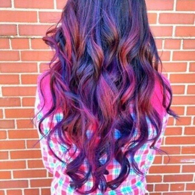 #purple #darkpurple #violet #peekaboos #tones #longhair #curls #girlscolorhair #dontusethathashtag #itakenocredit #soyoucanstfunow#getoverit #donttellmewhothisis #hairadvice #haircolors #hairdyeaddicts #tagsforlikes