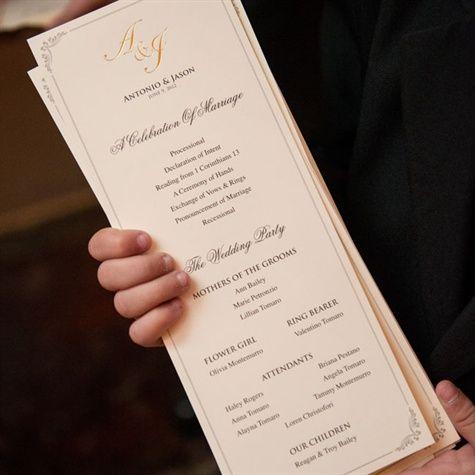 Best  Wedding Program Thank You Ideas On   Wedding