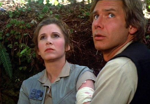 Carrie Fisher - Princess Leia - Harrison Ford - Han Solo - Star Wars - Return of the Jedi