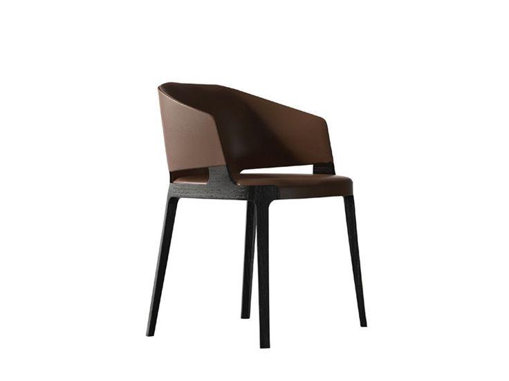 VELIS Leather chair by Potocco design Mario Ferrarini
