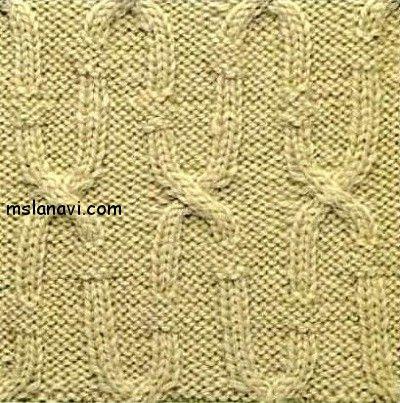 Knitted PATTERN / СХЕМА http://mslanavi.com/2014/10/relefnyj-uzor-spicami-94/ Рельефный узор спицами №94