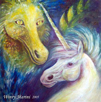 Art and Lore: Unicorn and Dragon