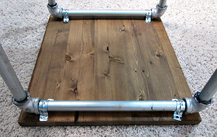 Industrial Pipe Side-table Tutorial [On the Cheap]