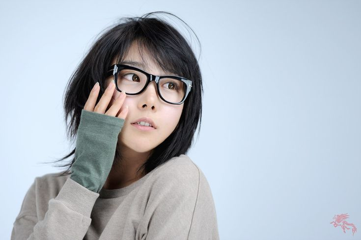 Women Glasses Short Hair Asians