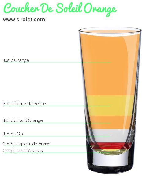 Recette Cocktail COUCHER DE SOLEIL ORANGE