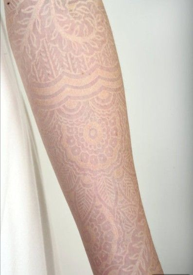 White Tattoo Lace sleeve by Watson tattoo patterns tattoo design tattoo