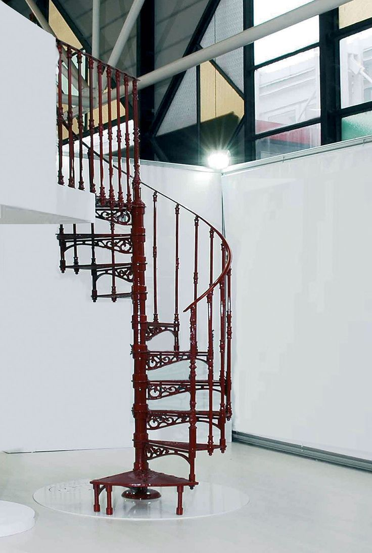 cast iron spiral staircases 2050 e 140 cm ral 3004 balusters
