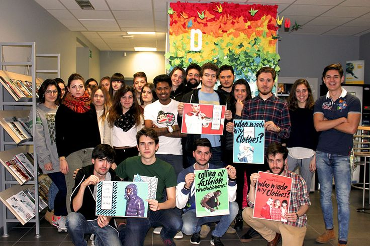 La Escuela de Diseno, Spain (2016). Students showed their labels on their clothes and took part in workshops on upcycling and how to be an ethical consumer.