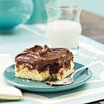 Chocolate Marble Sheet Cake Recipe | MyRecipes.com