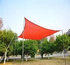 3.6m Red Square Sun Shade Sail Canopy Garden UV Awning Shelter Free Rope