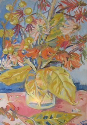 Still Life with Coral Tree Flowers - Irma Stern