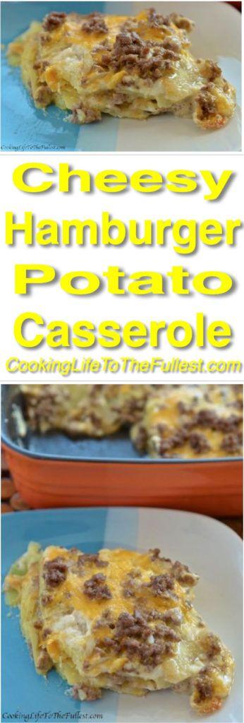 Cheesy Hamburger Potato Casserole.  Watch cooking video