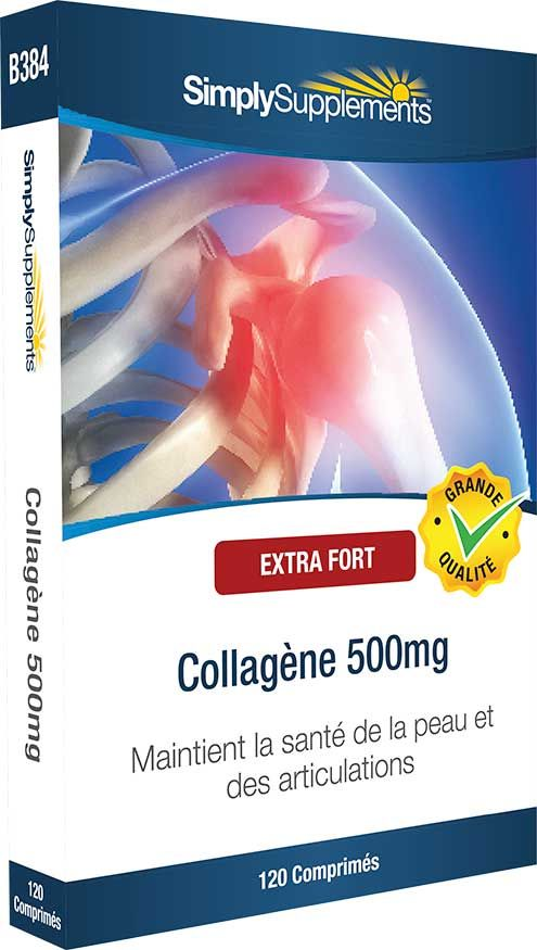 Les molécules de collagène renforcent les tissus conjonctifs. Le collagène est pris sous forme de complément alimentaire en combinaison avec le sulfate de glucosamine pour préserver la santé articulaire.