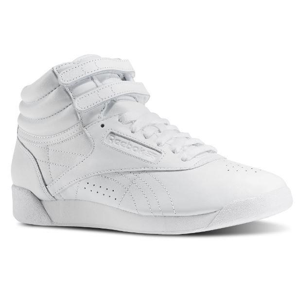 Reebok Freestyle Hi White Women Sneakers J92632 Sz5-10 Fast Ship L