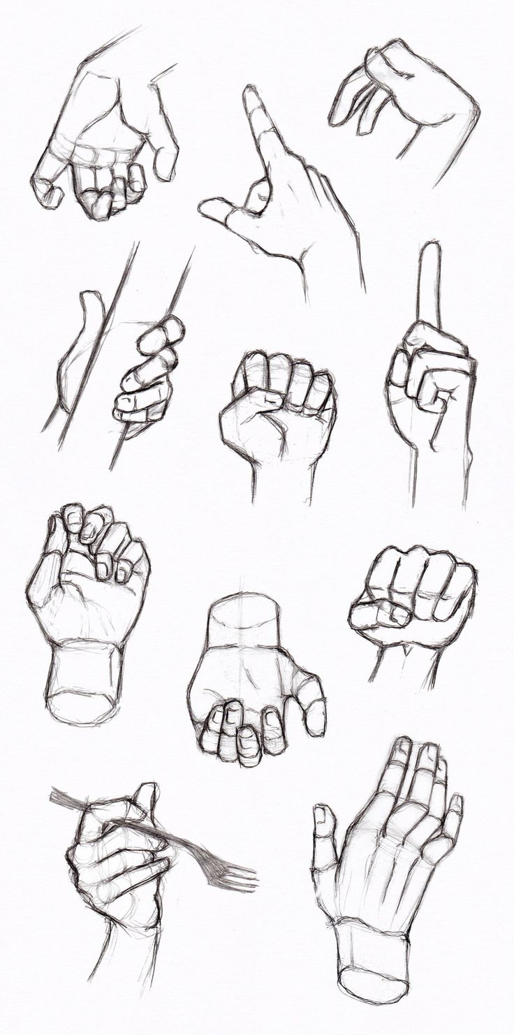 Copy's and Studies: Hands 3 by HIRVIOS on @DeviantArt