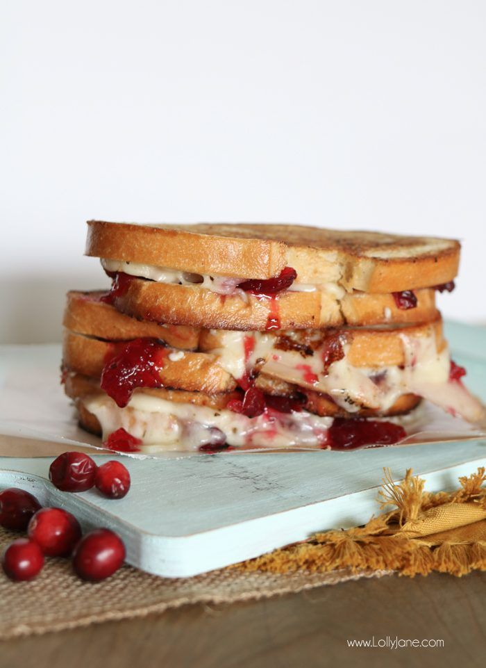 Melt-in-your-mouth Cranberry Turkey Grilled Cheese…