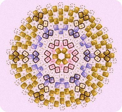 Circular peyote - Good diagram