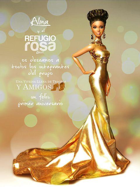 """1 Aniversario """"Una Vitrina Llena de Tesoros y Amigos"""". Barbie Ooak doll by David Bocci for Refugio Rosa."""