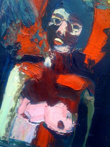 Elmer Bischoff (1916-1991)  • [Bay Area Figurative Movement]  was een beeldend kunstenaar in de San Francisco Bay Area . Bischoff, samen met Richard Diebenkorn en David Park , was een deel van de post- Tweede Wereldoorlog generatie kunstenaars die als abstracte schilders begonnen en hun weg terug vonden naar de figuratieve kunst.