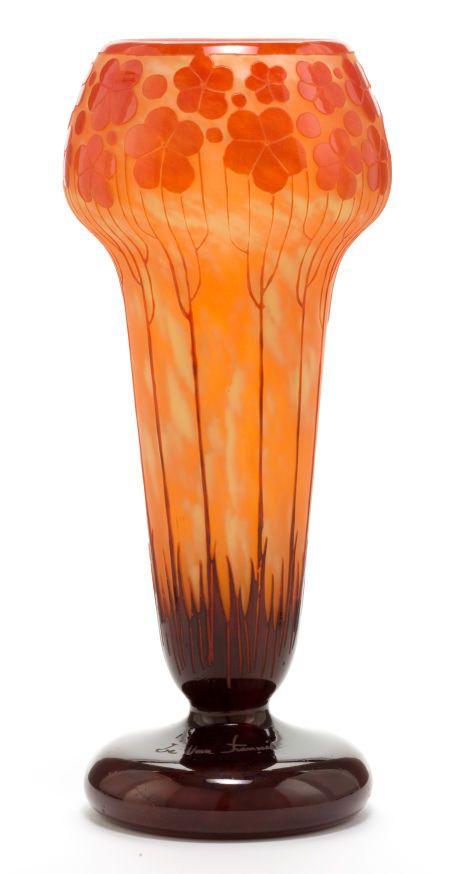Charles schneider le verre francais glass cardamines vase for Gel a depolir le verre