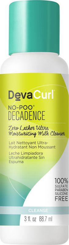 Travel Size No-Poo Decadence Zero Lather Ultra Moisturizing Milk Cleanser