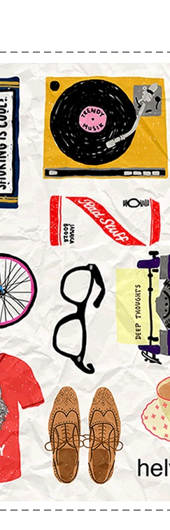 Things that hipsters like // Jenni Sparks Illustration