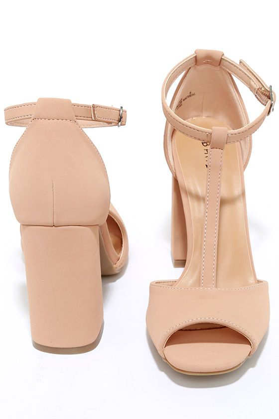 One look at the Heart Eyes Blush Nubuck T-Strap Heels will have your heart racing! A cute peep-toe and T-strap upper (with silver buckle ankle strap) is made from soft, vegan nubuck leather. Block heel brings the perfect retro touch!