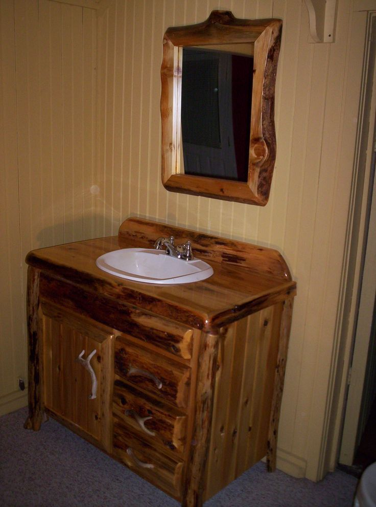 25 Rustic Bathroom Vanities To Make Your Bathroom Look Gorgeous Bathroom Vanity Decor Rustic