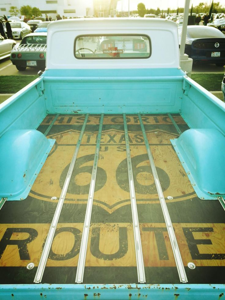 1965 Chevy Truck Texas Route 66 Bed Floor by Travel By Gravel