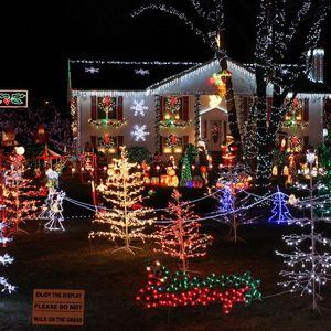 Elegant Christmas Lights On Houses