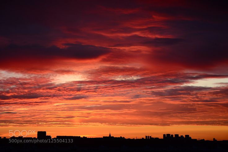 Awesome sunset in Moscow