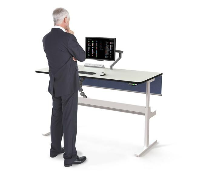 Interchange Standing Desk | UCI Electric Height-adjust desk system. Australian designed and manufactured. GECA Certified. uci.com.au