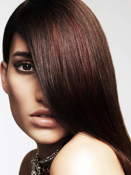 Pictures : Dark Red Hair Color: Is It Right for You? - Brown Hair With Dark Red Highlights