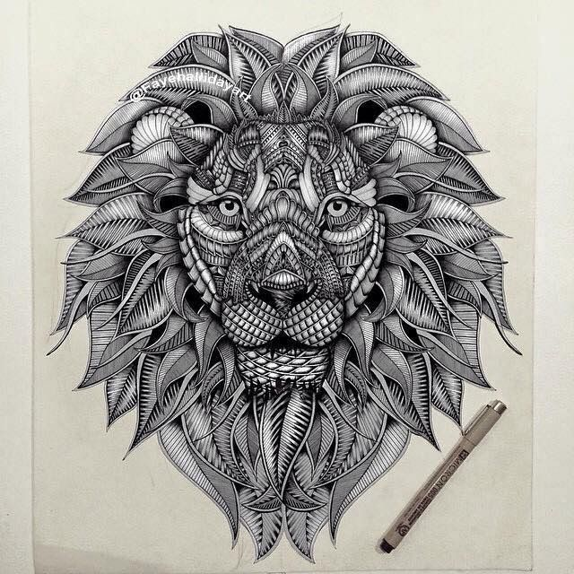 Les 25 meilleures id es de la cat gorie tribal lion tatouage sur pinterest lion et lionne - Tatouage gitane signification ...