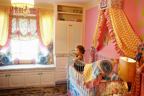We adore the whimsical design of this fab nursery decor from @Addison's Wonderland! #PNapproved: Girl Room, Baby Bedding, Kids Room, Girls Room, Baby Girl, Baby Room, Baby Stuff