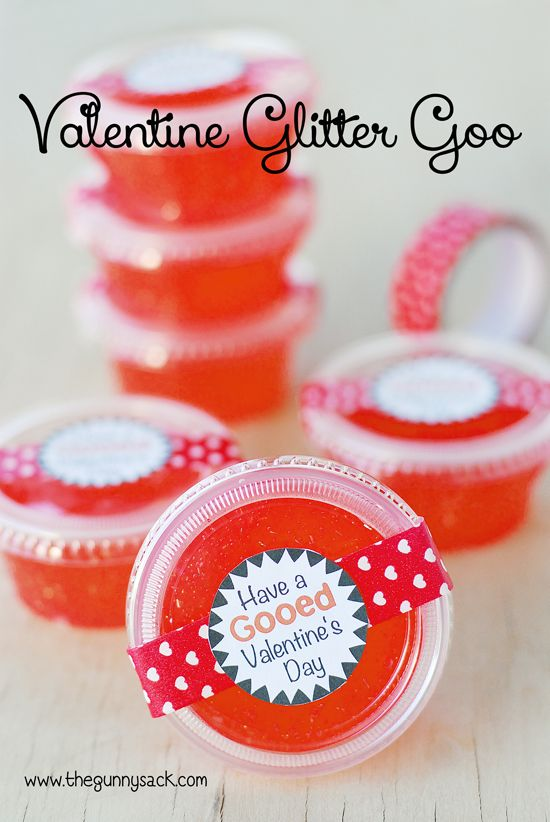Have A Gooed Valentine's Day: Recipe for Valentine's Day Glitter Goo, includes a free printable tag.