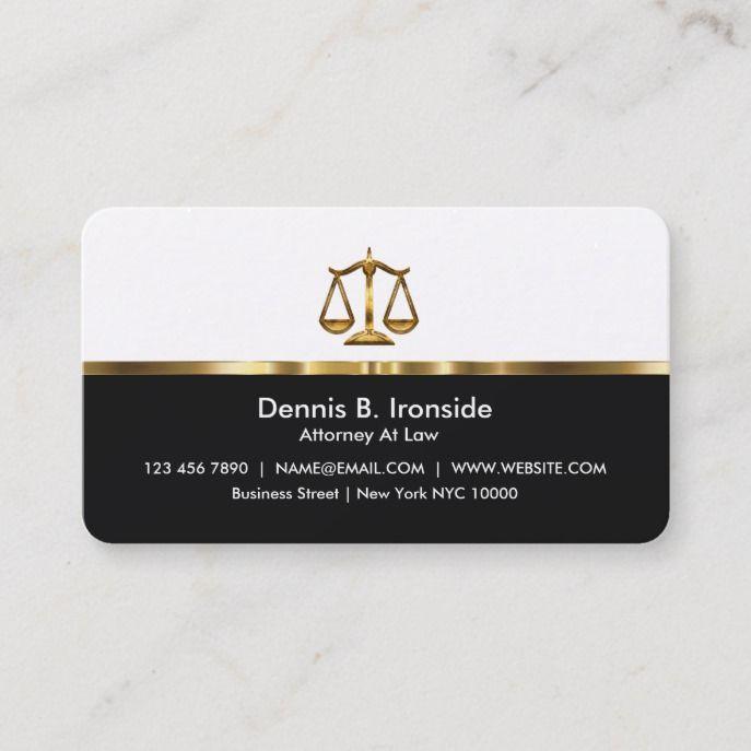 Classy Professional Attorney Business Card Zazzle Com