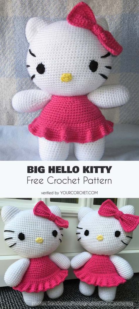Big Hello Kitty Amigurumi Free Pattern Hello Kitty Crochet And