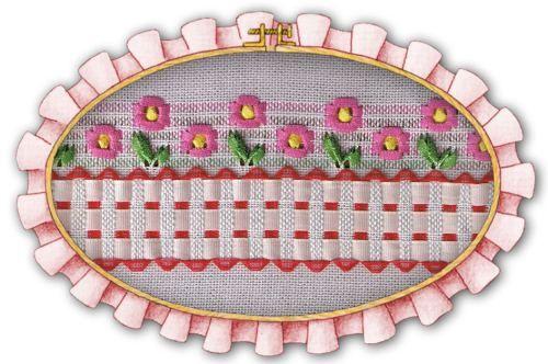 Otro modelo de cerquita con flores caladas que también puede hacerse como guarda de una toalla