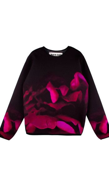 KATIE EARY AW13 DEATH IN BLOOM NEOPRENE SWEATER