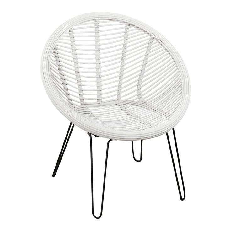Rotan fauteuil Indi Fauteuils Prachtige handgemaakte rotan stoel met een staal onderstel.