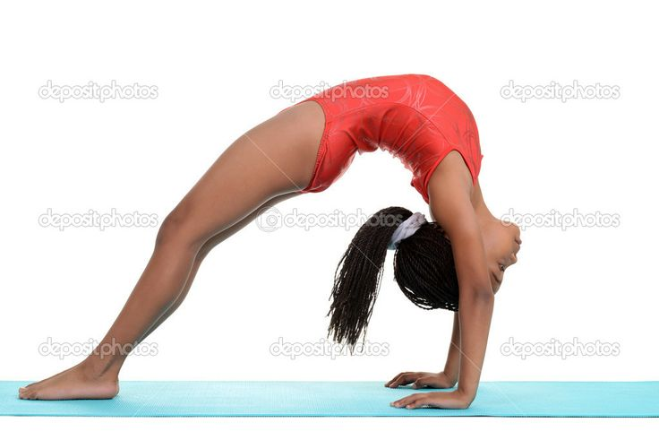 gymnastics bridge | South African child doing gymnastics bridge — Stock Photo © Michael ...