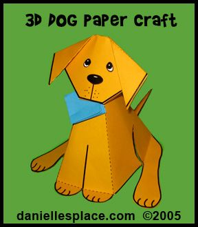 Paper Dog Craft Kids Can Make From Www Daniellesplace Animal Crafts Pinterest And
