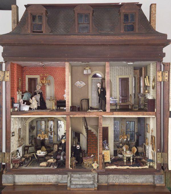 The Dutch House, a Victorian mahogany mansion.   Rick Maccione-Dollhouse Builder  www.dollhousemansions.com