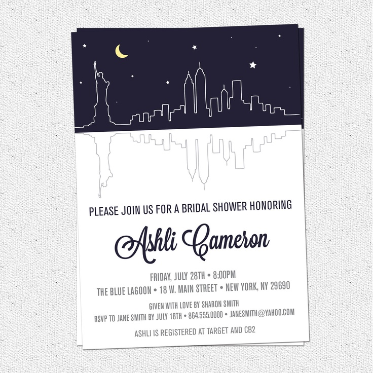 Personalized Skyline Wedding Invitations: 45 Best Birthday NYC Theme Images On Pinterest