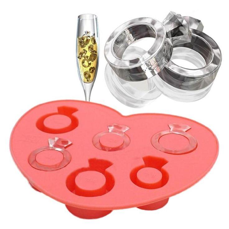Diamond engagement ring mold ice molds ice maker mold