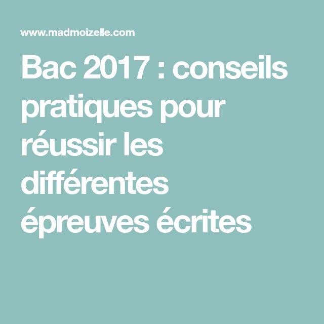 Bac 2017 : conseils pratiques pour réussir les différentes épreuves écrites