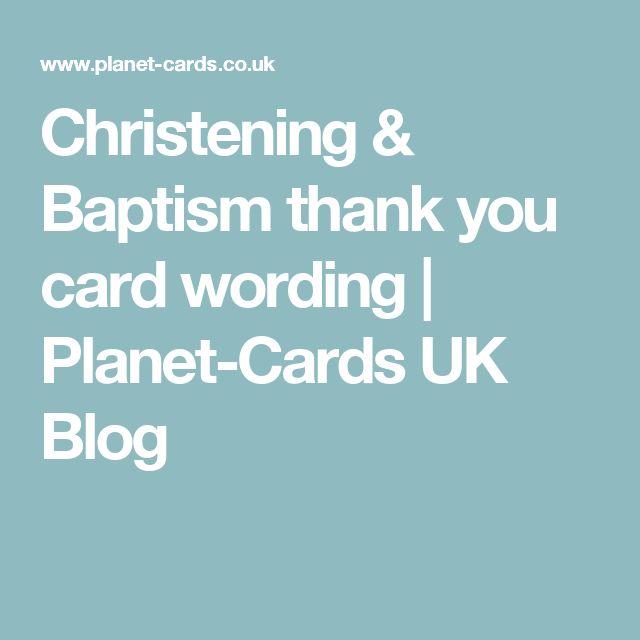 Christening & Baptism thank you card wording | Planet-Cards UK Blog