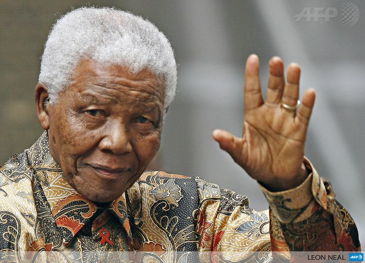 """Selamat Jalan, Bapak Mandela, in Batik, from Indonesia """"where he is fondly remembered for helping to bring the nation's trademark colourful batik shirts to a global audience."""