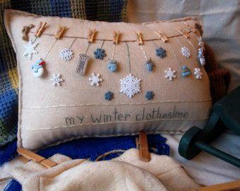 Mi almohada de jardín de invierno estilo casa de por PillowCottage